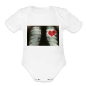 heartbreak jacket - Short Sleeve Baby Bodysuit
