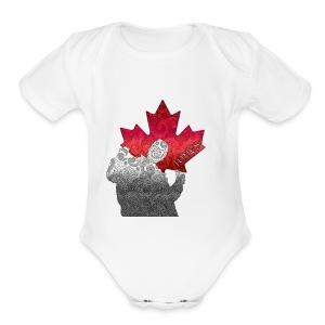 Jonesy logo - Short Sleeve Baby Bodysuit