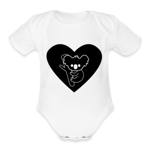 Koala Love - Organic Short Sleeve Baby Bodysuit