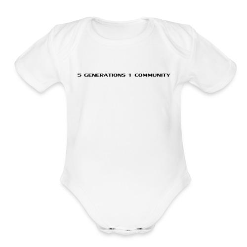 5 gen 1 community - Organic Short Sleeve Baby Bodysuit