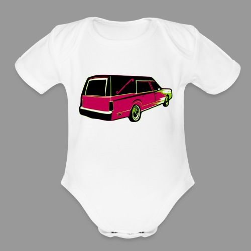 Hearse - Organic Short Sleeve Baby Bodysuit