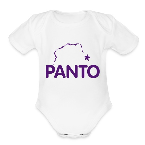 panto stencil smaller - Organic Short Sleeve Baby Bodysuit