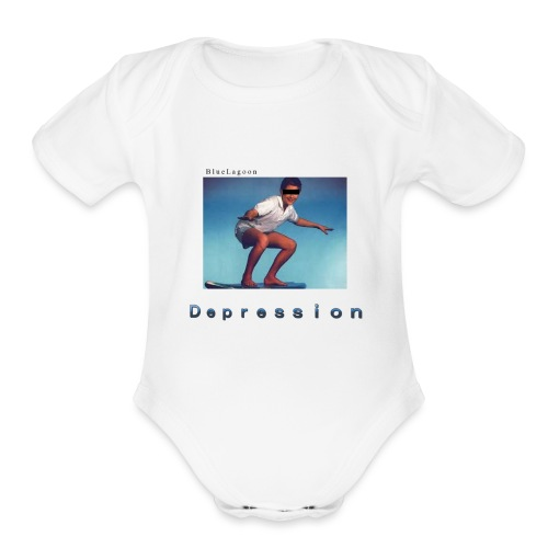 Depression album merchandise - Organic Short Sleeve Baby Bodysuit