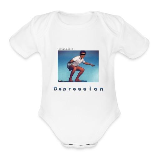 Depression album merchandise - Organic Short Sleeve Baby Bodysuit