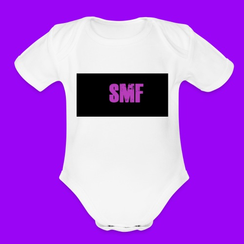 SMF purple muddy - Organic Short Sleeve Baby Bodysuit