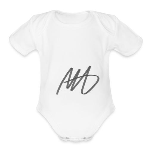 Marcus Hudson Vlogs Merch - Organic Short Sleeve Baby Bodysuit