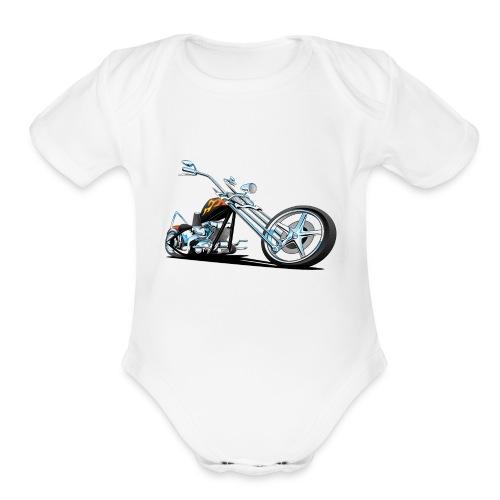 Classic American Chopper - Organic Short Sleeve Baby Bodysuit