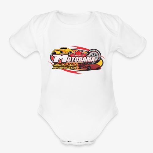 Motorama Logo - Organic Short Sleeve Baby Bodysuit