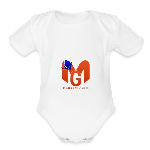MaddenGamers MG Logo - Organic Short Sleeve Baby Bodysuit