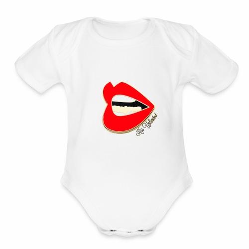 KU Red 2 - Organic Short Sleeve Baby Bodysuit