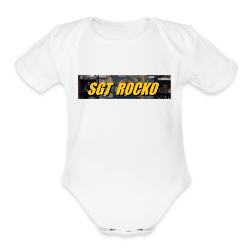 RockoWear Banner - Organic Short Sleeve Baby Bodysuit