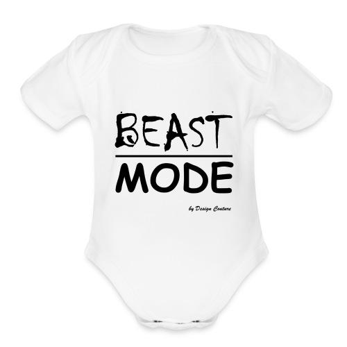 MODE, BEAST-BLACK - Organic Short Sleeve Baby Bodysuit
