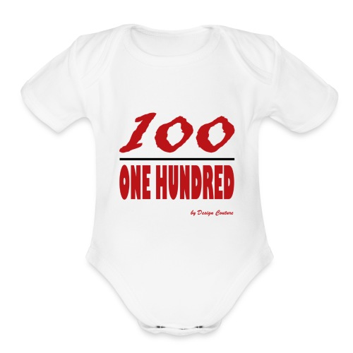 ONE HUNDRED RED - Organic Short Sleeve Baby Bodysuit