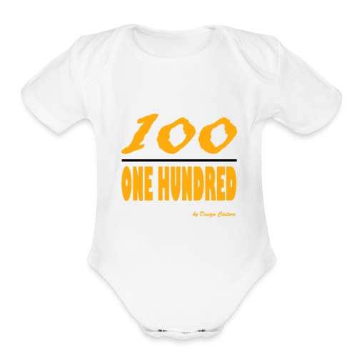 ONE HUNDRED ORANGE - Organic Short Sleeve Baby Bodysuit