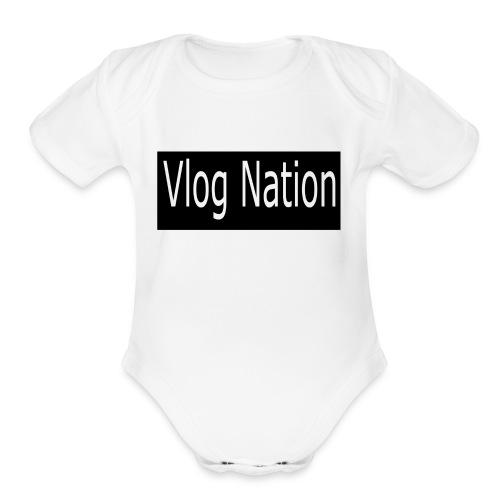 Vlog Nation - Organic Short Sleeve Baby Bodysuit