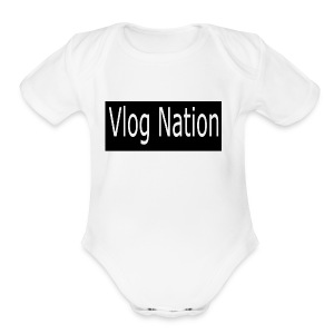 Vlog Nation - Short Sleeve Baby Bodysuit