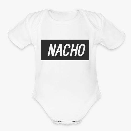 Nacho Logo - Organic Short Sleeve Baby Bodysuit