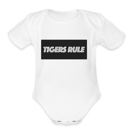TIGERS RULE - Organic Short Sleeve Baby Bodysuit