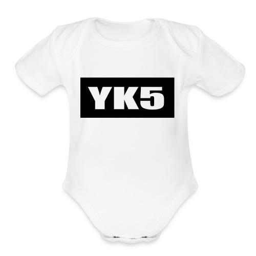 yk5shirtlogo - Organic Short Sleeve Baby Bodysuit