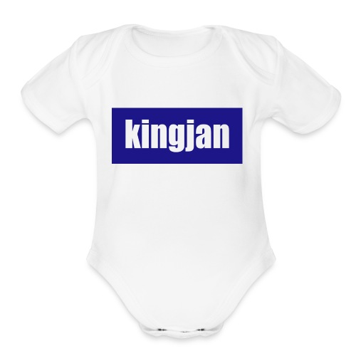 kingjan merch logo - Organic Short Sleeve Baby Bodysuit