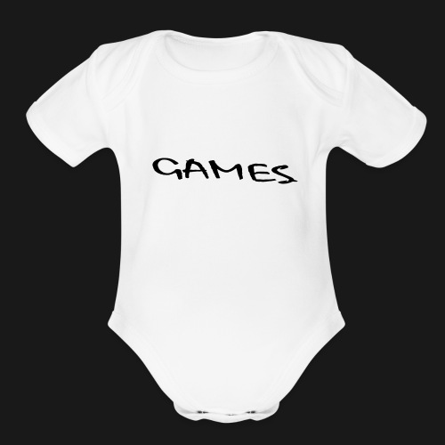 GAMES - Organic Short Sleeve Baby Bodysuit