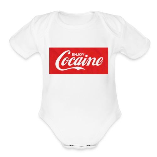 Enjoy space - Organic Short Sleeve Baby Bodysuit