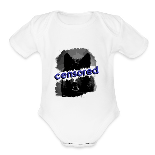Wolf censored - Organic Short Sleeve Baby Bodysuit