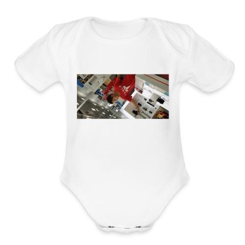 Vlog shirt - Organic Short Sleeve Baby Bodysuit