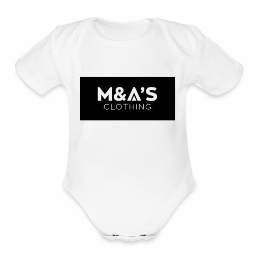 M and A - Organic Short Sleeve Baby Bodysuit