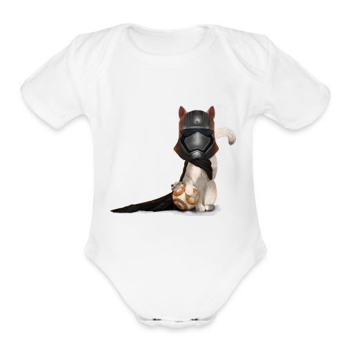 Captain Kitty - Organic Short Sleeve Baby Bodysuit