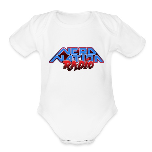 Nerd Nation Logo - Organic Short Sleeve Baby Bodysuit