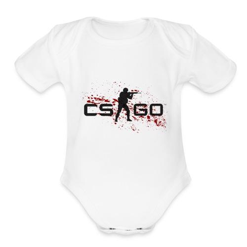 CSGOLOGO - Organic Short Sleeve Baby Bodysuit
