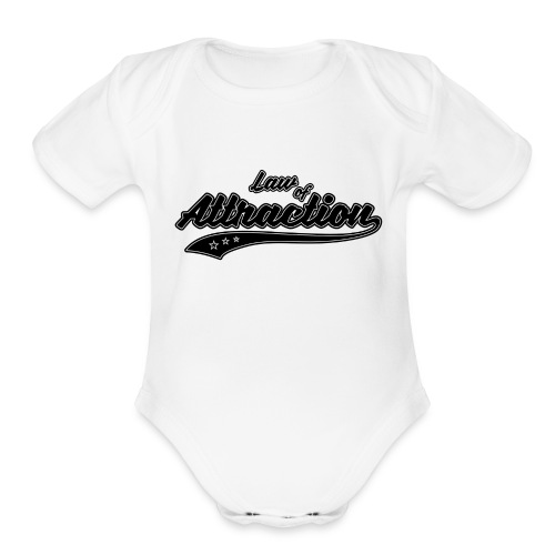 Attraction - Organic Short Sleeve Baby Bodysuit