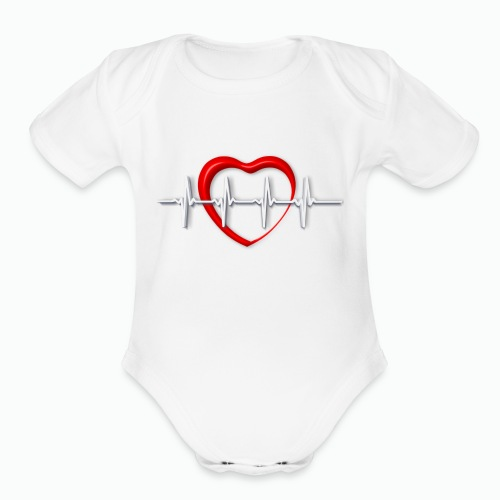 Nurse life heartbeat cardiac Nurse - Organic Short Sleeve Baby Bodysuit