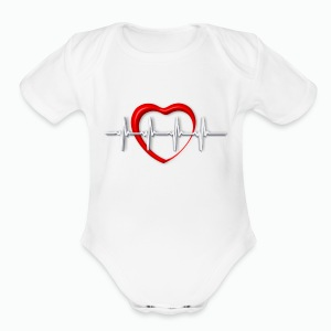 Nurse life heartbeat cardiac Nurse - Short Sleeve Baby Bodysuit