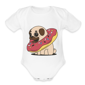 do-pug - Short Sleeve Baby Bodysuit