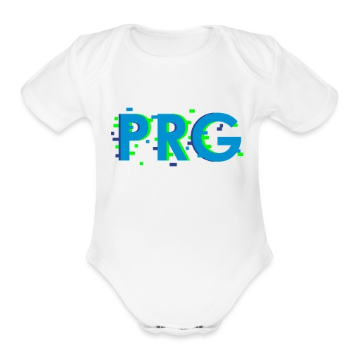 PRG distorted Neon libertarian Design - Organic Short Sleeve Baby Bodysuit
