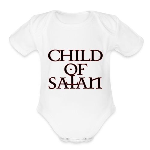 Child Of Satan - Organic Short Sleeve Baby Bodysuit