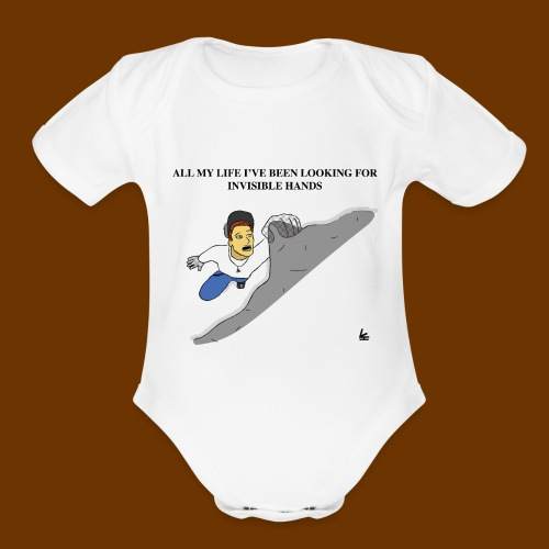Invisible Hands - Organic Short Sleeve Baby Bodysuit