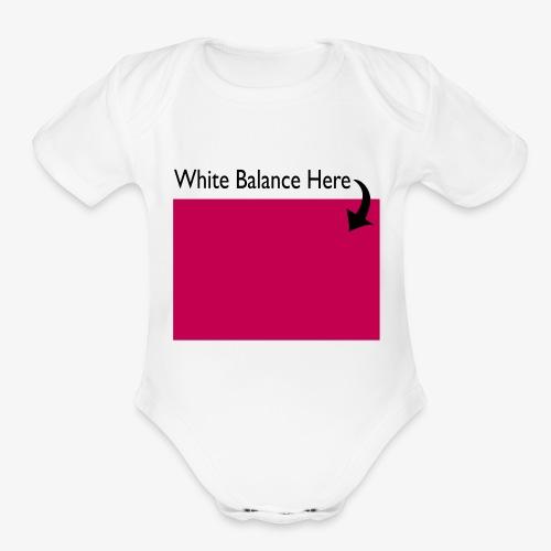 White Balance - Organic Short Sleeve Baby Bodysuit