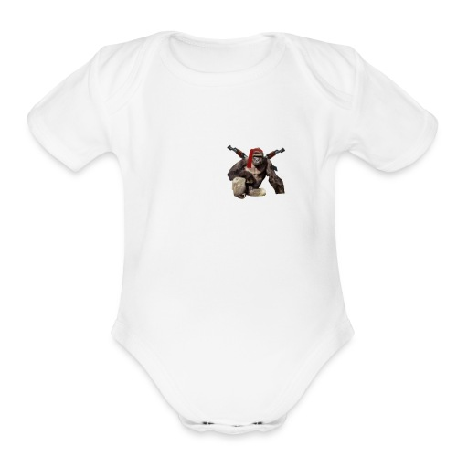 dicks out for harambe - Organic Short Sleeve Baby Bodysuit