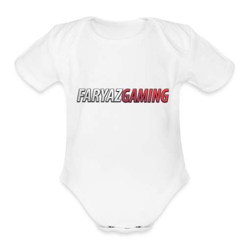 FaryazGaming Text - Organic Short Sleeve Baby Bodysuit
