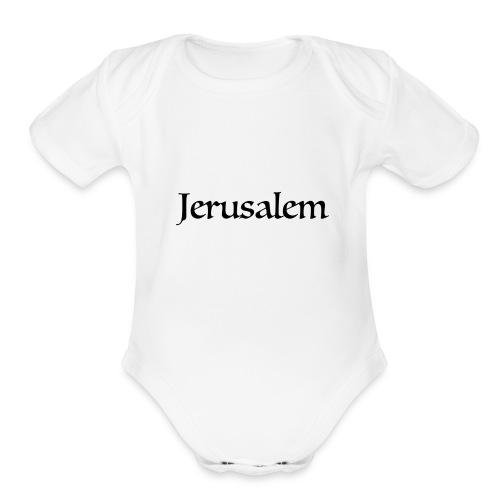 Jerusalem - Organic Short Sleeve Baby Bodysuit