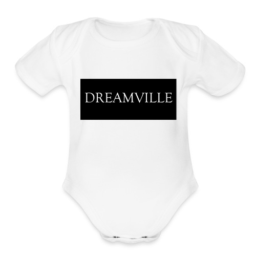Dreamville_Clothing_Logo - Organic Short Sleeve Baby Bodysuit