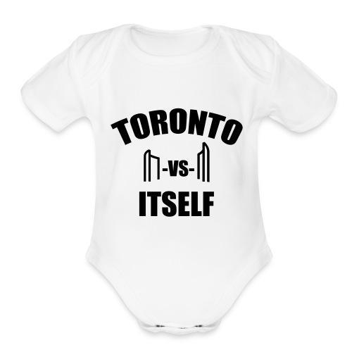 6 Versus 6 - Organic Short Sleeve Baby Bodysuit