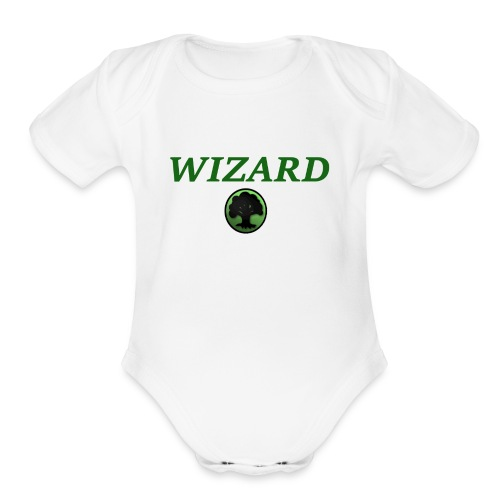 Forest Wizard - Organic Short Sleeve Baby Bodysuit