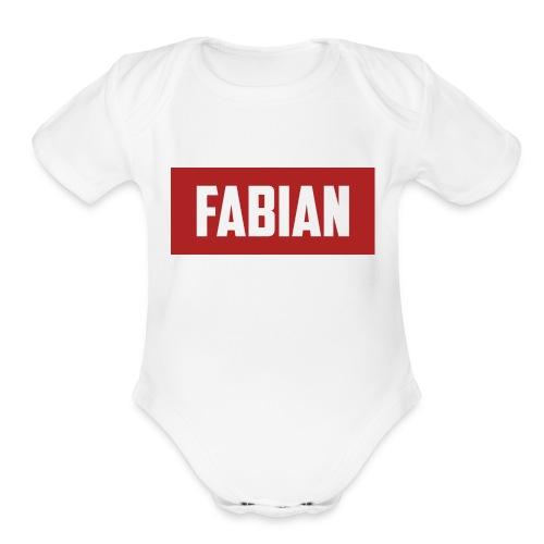Fabian Logo - Organic Short Sleeve Baby Bodysuit