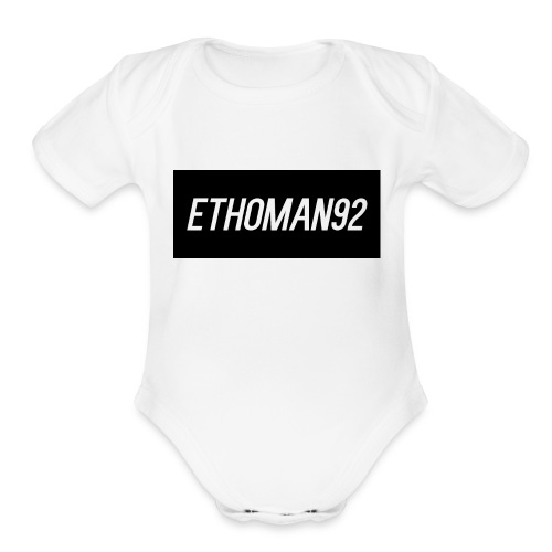 Ethoman92 Shirt Design - Organic Short Sleeve Baby Bodysuit