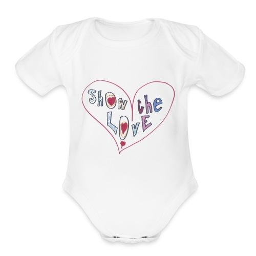 Show the Love - Organic Short Sleeve Baby Bodysuit