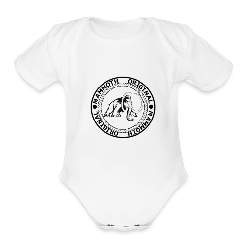 Mammoth Original Standard Logo - Organic Short Sleeve Baby Bodysuit